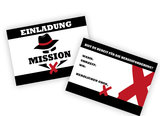 Einladung Mission X party