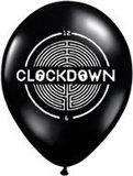 Voorbeeld Clockdown ballon