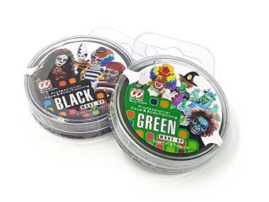 Zombie Schminke grün + schwarz